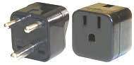 3 Round Pin Grounded Voltage Adapter